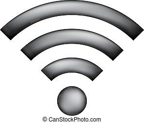 signe., wi-fi, icône