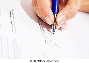 signer, accord, contrat