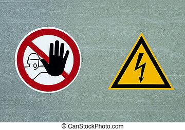 signes, électrique, facilité, danger, deux