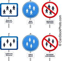 signes, hommes, femmes