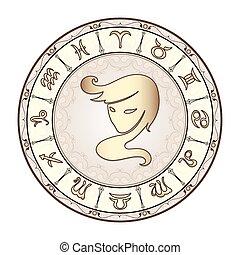 signes zodiaque, vecteur, illustration.