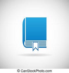 signet, étude, illustration, symbole, vecteur, conception, gabarit, livre, icône