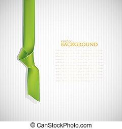 signet, fond, résumé vert
