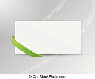 signet, papier, ou, ruban, vide