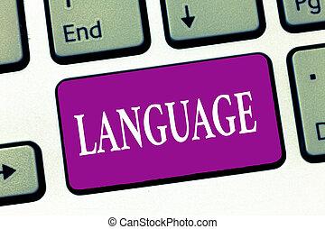 significado, conceito, huanalysis, falado, texto, language., escrita, método, escrito, um, palavras, comunicação, letra, consistindo