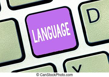 significado, conceito, huanalysis, falado, texto, language., método, escrito, um, palavras, comunicação, letra, consistindo