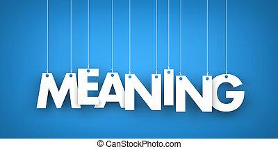 significado, palabra