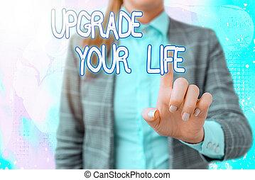 signification, écran, numérique, vivant, important, écriture, plus riche, obtenir, texte, manière, écriture, améliorer, toucher, application, business., happier, marquer, ton, amendement, détails, concept, life.