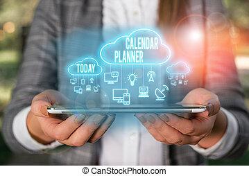signification, activités, devoir, tâche, être, écriture, completed., horaire, texte, ou, calendrier, concept, écriture, planner.