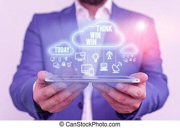significato, sfida, affari, essere, pensare, testo, vincere, strategia, concetto, modo, scrittura, win., concorrenza, success.