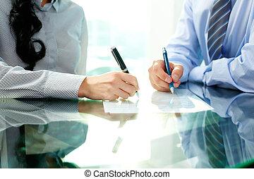 signing, соглашение
