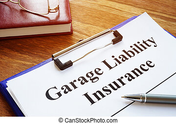 signing., ガレージ, 合意, ペン, 責任, 保険