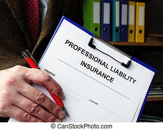 signing., 準備ができた, 保険, pli, 責任, 専門家, 形態