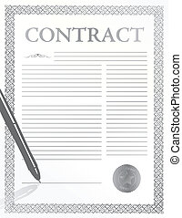 signing contract image with seal