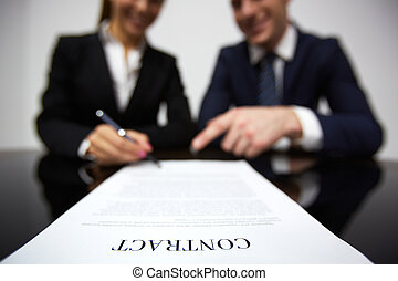 Signing contract - Image of human hands during signing ...