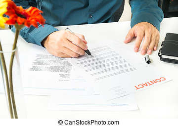 Signing Document for Business