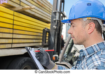 signing for truck delivery