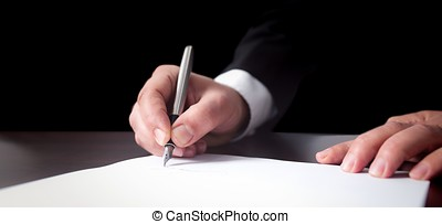 Signing Official Document