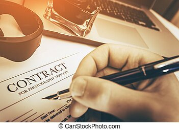 Signing Photography Contract