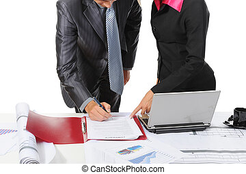 Signing the document partners