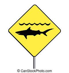 signo., 'warning, sharks'
