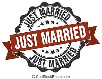 signo., casado, stamp., sólo, sello