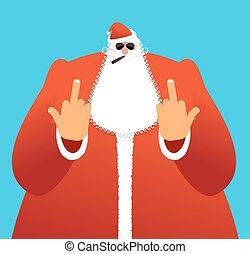 signo., claus., bueno, viejo, peleón, enojado, malo, navidad...