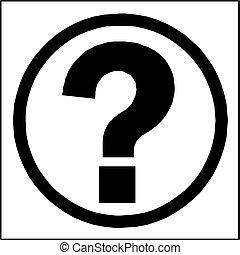 signo de interrogación, botón