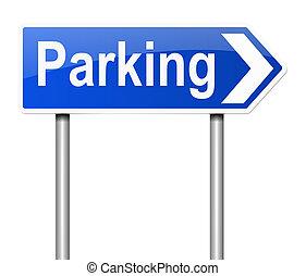 signo., estacionamiento