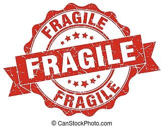 signo., frágil, stamp., sello