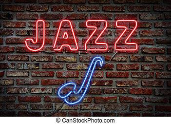 signo., jazz, neón