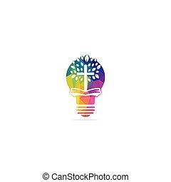signo., lámpara, ministerio, design., church., logotipo,...