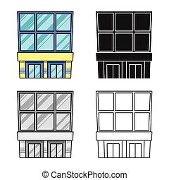 signo., moderno, tienda, vector, ilustración, conjunto, emporio, stock., icono