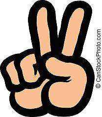 signo paz, mano