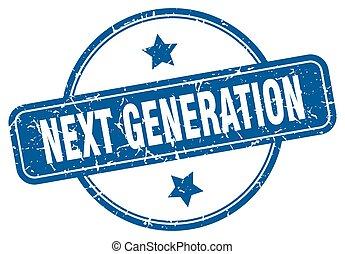 signo., redondo, generación, luego, stamp., grunge, vendimia