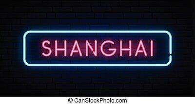 signo., shanghai, neón