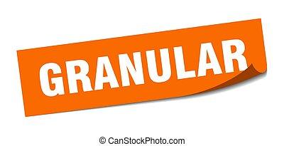 signo., sticker., granular., granular, policía, cuadrado