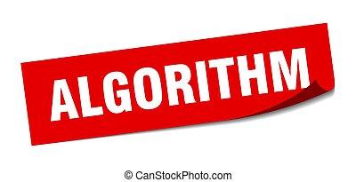 signo., sticker., policía, algorithm., algorithm, cuadrado