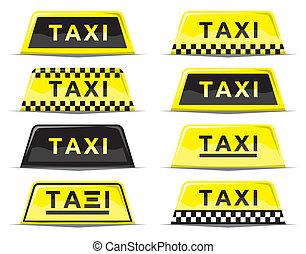 signo taxi, conjunto