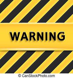 signo., vector, advertencia, ilustración