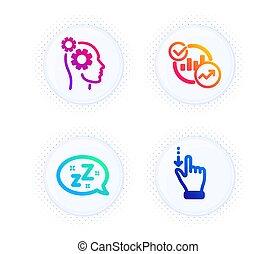 signo., vector, estadística, pensamientos, touchscreen, ...