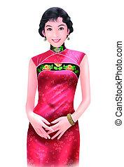signora, cinese, 084