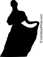 signora, silhouette