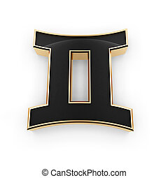 signos, gêmeos, símbolo, ícone