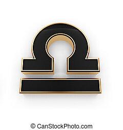 signos, libra, símbolo, ícone