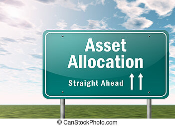 Signpost with Asset Allocation wording