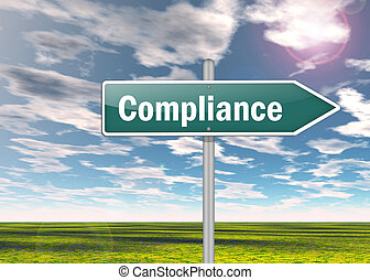 Signpost Compliance - Signpost with Compliance wording