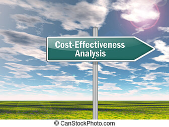 "Signpost ""Cost-Effectiveness Analysis"""