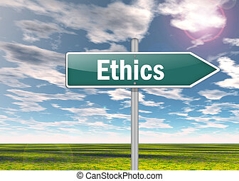 Signpost Ethics - Signpost with Ethics wording