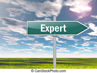 Signpost Expert - Signpost with Expert wording